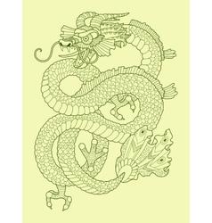 Dragon color drawing vector image