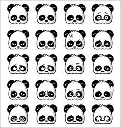 Emoticon Panda vector image vector image