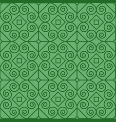 green pattern with linear swirls vector image