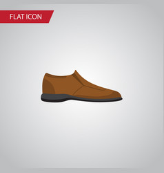 isolated man shoe flat icon male footware vector image