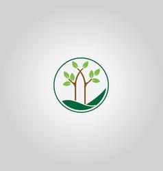 tree nature logo vector image