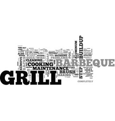 barbeque maintenance tipswps text word cloud vector image vector image