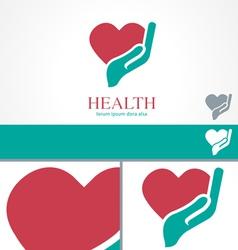 Hand Heart Wellness Health design Logo template vector image vector image