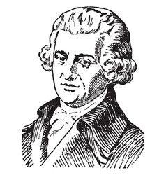 Joseph haydn vintage vector