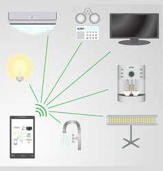 Smart house control system using a mobile phone vector