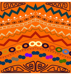 Abstract seamless pattern in the tribal style vector