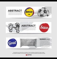 Abstract soccer football banner vector