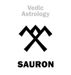 Astrology astral planet sauron vector