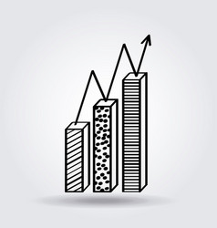 Bar chart icon image vector