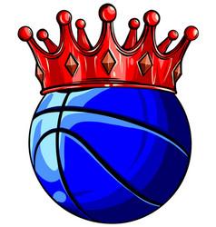 basketball ball isolated on vector image