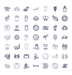Beach icons vector