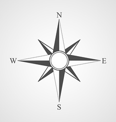 Black compass icon vector