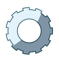 Blue shading silhouette of pinion model two vector