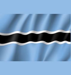 botswana realistic flag vector image