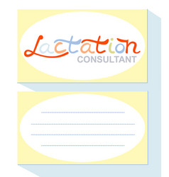 Business card lactation consultant vector