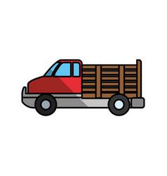 Cargo suv vehicle vector