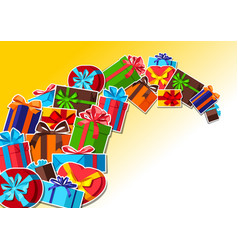 celebration background with gift boxes vector image