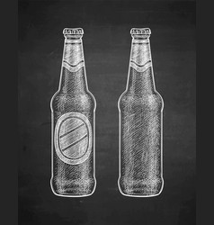 Chalk sketch of beer vector