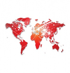 Christmas world map vector