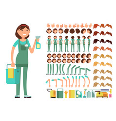cleaning company employee woman cleaner vector image
