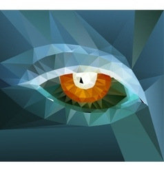 color eye design Hi-tech concept vector image