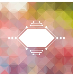 Colorful abstract triangular pastel pattern vector