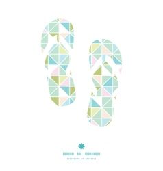 Colorful pastel triangle texture flip flops vector