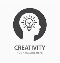 creativity icon isolated vector image