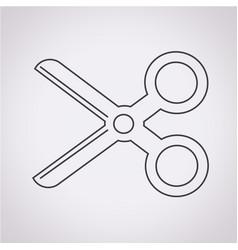Cut scissors icon vector