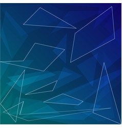 dark blue abstract background with geometric vector image
