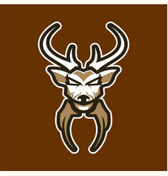 deer logo badge for sport esport game vector image