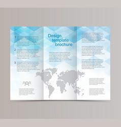 Design brochure templatethe blue hexagon vector
