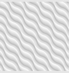 diagonal white texture of abstract waves vector image