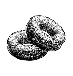 Donuts sketch cakes pastry food hand drawn vector