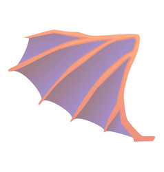 Dragon wing icon cartoon style vector