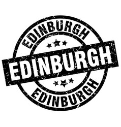 Edinburgh black round grunge stamp vector