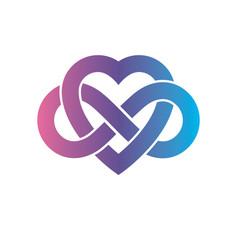 Eternal love conceptual sign symbol created vector
