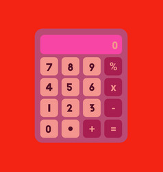 Flat icon on background calculator vector
