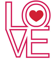font type love happy valentines day vector image