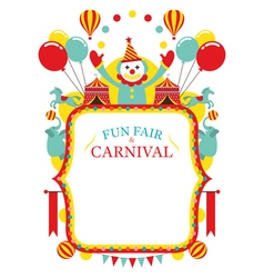 Fun Fair Carnival Circus Frame vector