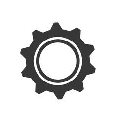 Gear machine part technology metal icon vector
