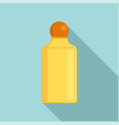gold shampoo bottle icon flat style vector image