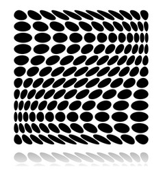 Grid of circles with distortion deformation effect vector