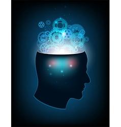 Head human mind consciousness imagination vector
