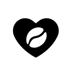 heart black icon a symbol of love coffee vector image