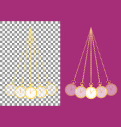 hypnotic pocket watch pendulum well known trick vector image