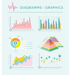 Infographic set elements Graph and Charts vector