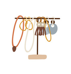 Jewelry holder with different female accessories vector