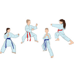 Karate several positions vector