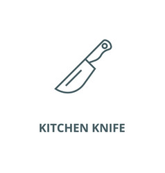 kitchen knife line icon linear concept vector image